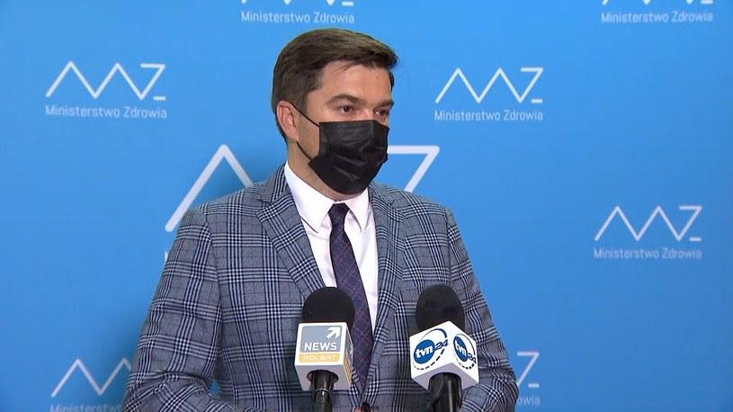 Rzecznik ministerstwa zdrowia Wojciech Andrusiewicz /Polsat News
