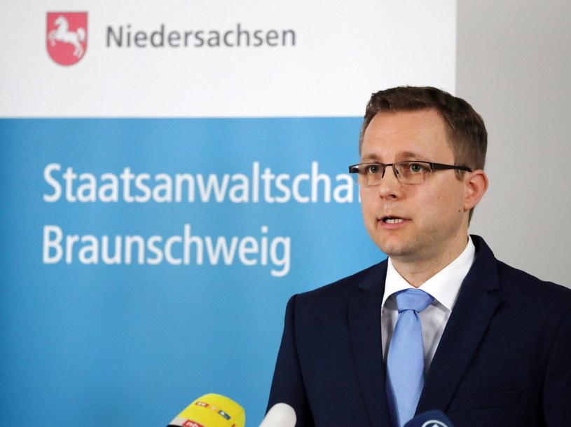 Rzecznik niemieckiej prokuratury Hans Christian Wolters /FOCKE STRANGMANN /PAP/EPA
