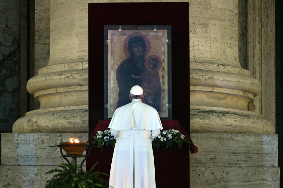 Rzecznik: papież Franciszek nie ma koronawirusa /VATICAN MEDIA HANDOUT /PAP/EPA