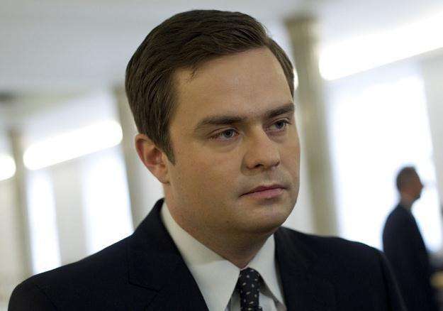 Rzecznik PiS Adam Hofman, fot. Andrzej Stawiński /Reporter