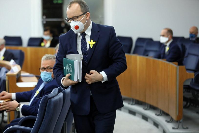 Rzecznik praw obywatelskich Adam Bodnar na sali plenarnej Senatu /Rafał Guz /PAP