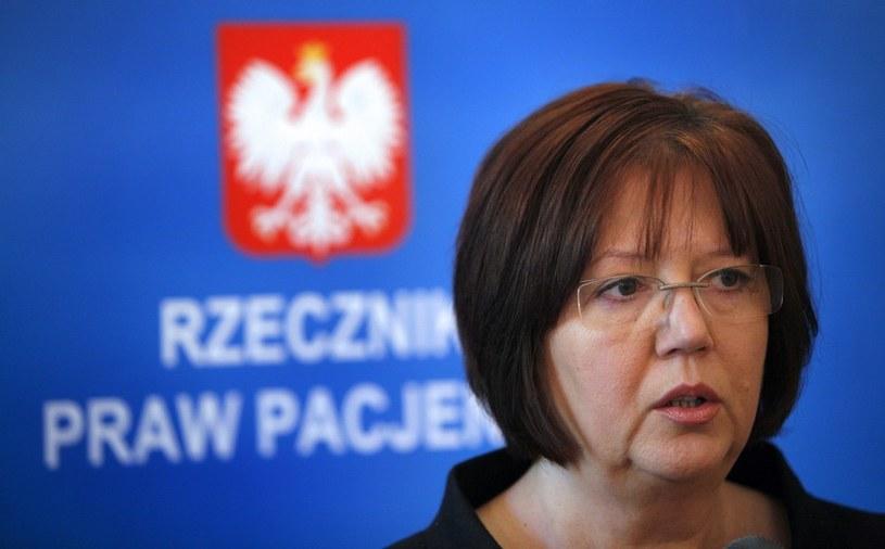 Rzecznik Praw Pacjenta Krystyna Barbara Kozłowska, fot.  Andrzej Stawiński/REPORTER /East News