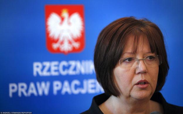 Rzecznik praw pacjenta Krystyna Barbara Kozłowska /Reporter