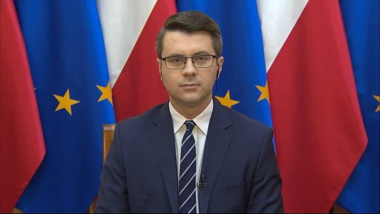 """Rzecznik rządu był gościem w programie """"Graffiti"""" /Polsat News"""