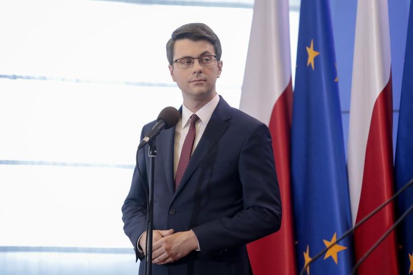 Rzecznik rządu Piotr Müller /Grzegorz Banaszak/REPORTER /Reporter