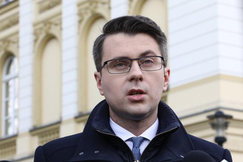Rzecznik rządu Piotr Müller /Fot Tomasz Jastrzebowski /Reporter