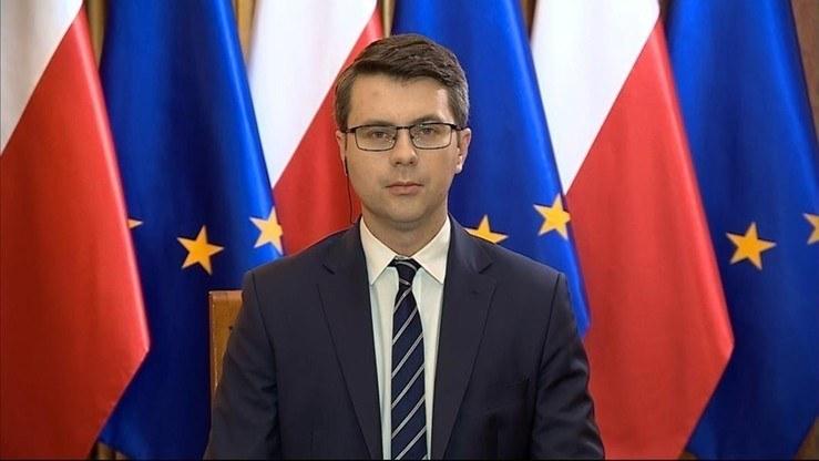 Rzecznik rządu Piotr Müller /Polsat News