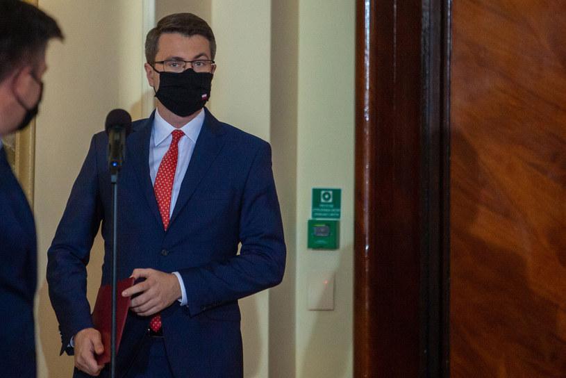 Rzecznik rządu Piotr Müller /Grzegorz Banaszak /Reporter