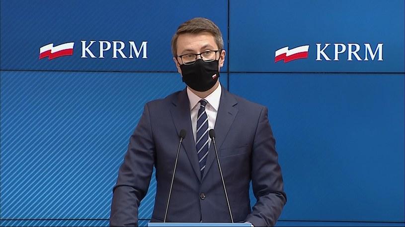 Rzecznik rządu Piotr Müller /Polsat News /Polsat News