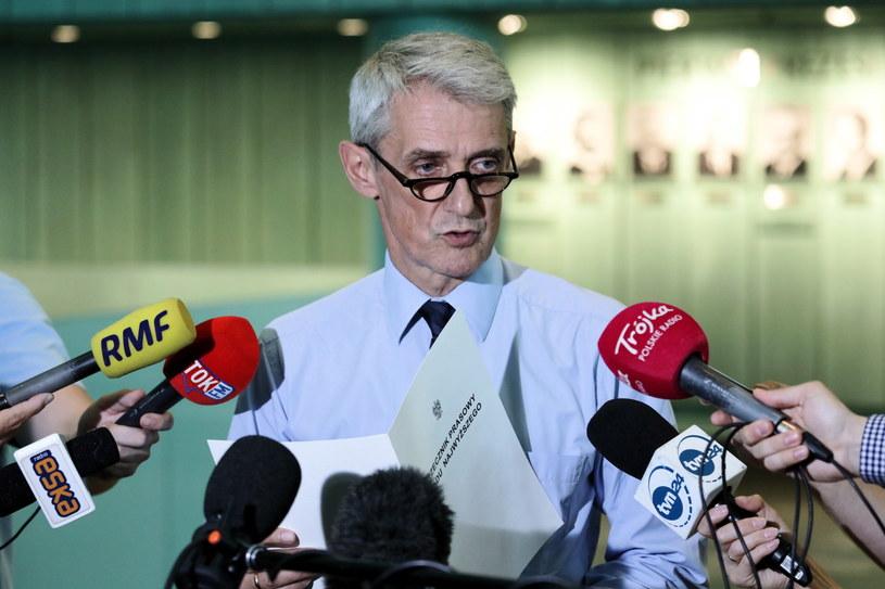 Rzecznik Sądu Najwyższego Michał Laskowski podczas konferencji prasowej w SN /Tomasz Gzell   /PAP