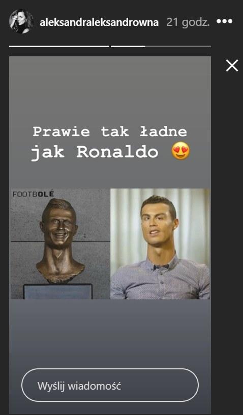 Rzeźba Cristiano Ronaldo /Instagram/aleksandraleksandrowna /Instagram