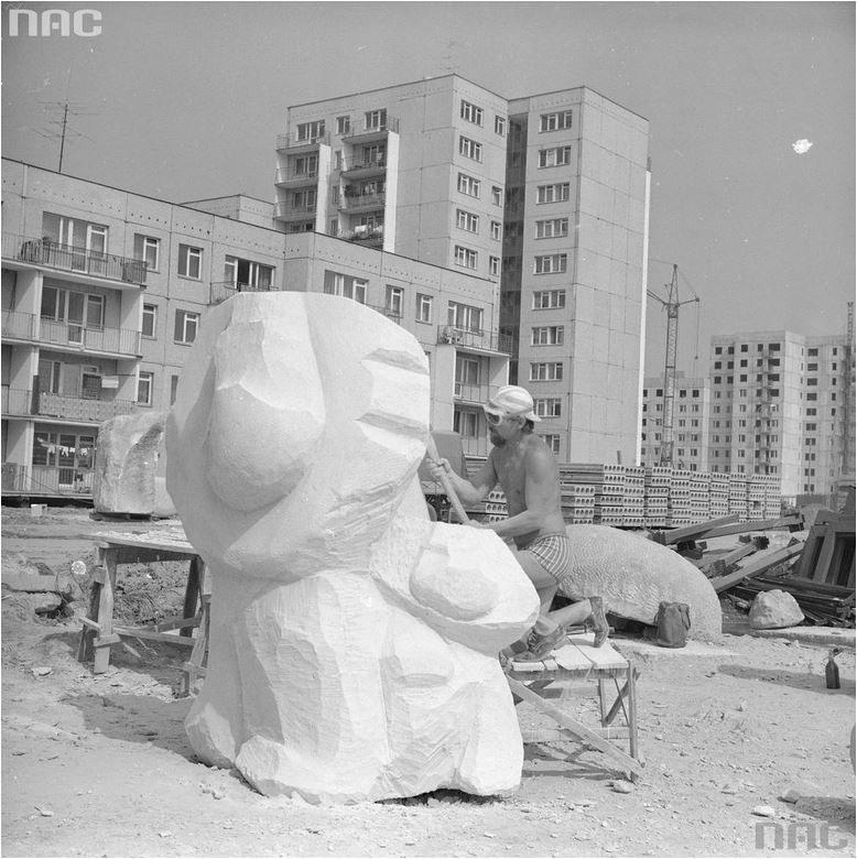 Rzeźby i mała architektura to elementy projektu, których nie udało się w całości zrealizować /Narodowe Archiwum Cyfrowe /INTERIA.PL