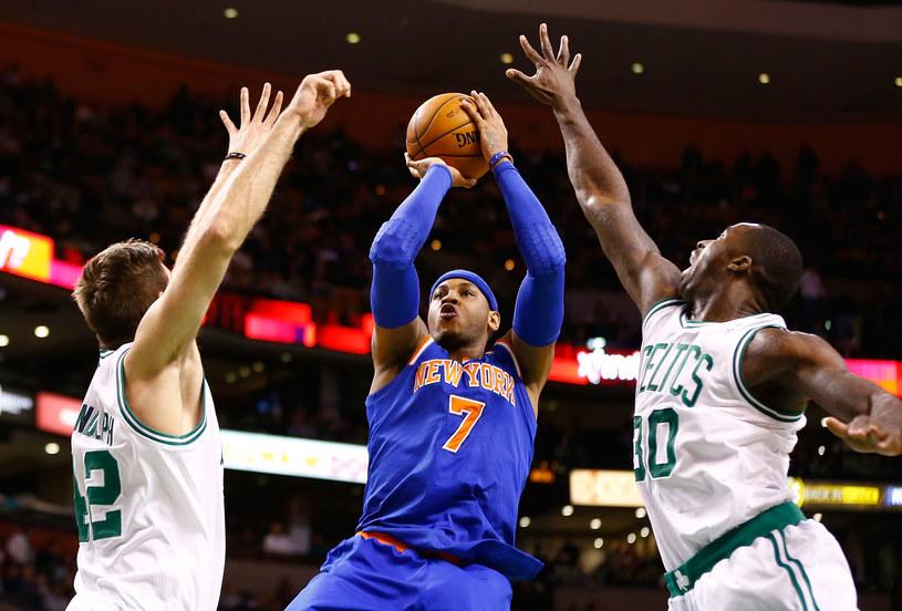 Rzuca Carmelo Anthony z New York Knicks /AFP