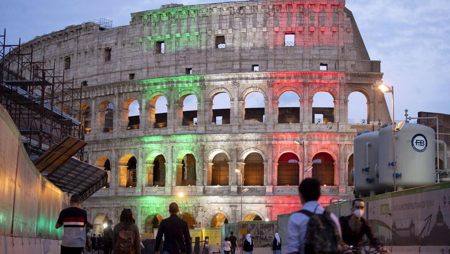 Rzymskie Koloseum /MASSIMO PERCOSSI /PAP/EPA