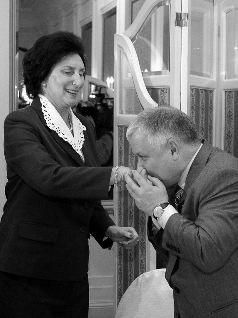 Ś.p. Irena Szewińska i ś.p. Prezydent Lech Kaczyński. /Wojtek Radwański /AFP