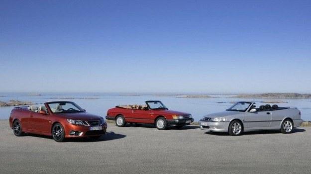 Saab 9-3 Cabriolet w wersji Independent Edition oraz dwie poprzednie generacje modelu. /Saab