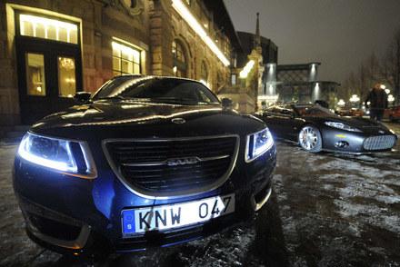 Saab i spyker w Sztokholmie /AFP
