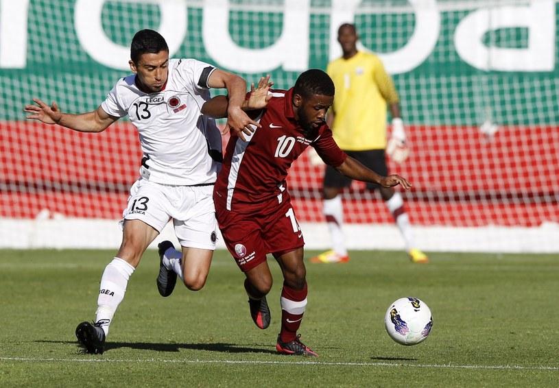 Sabien Lilaj (z lewej) w meczu reprezentacji Albanii /AFP
