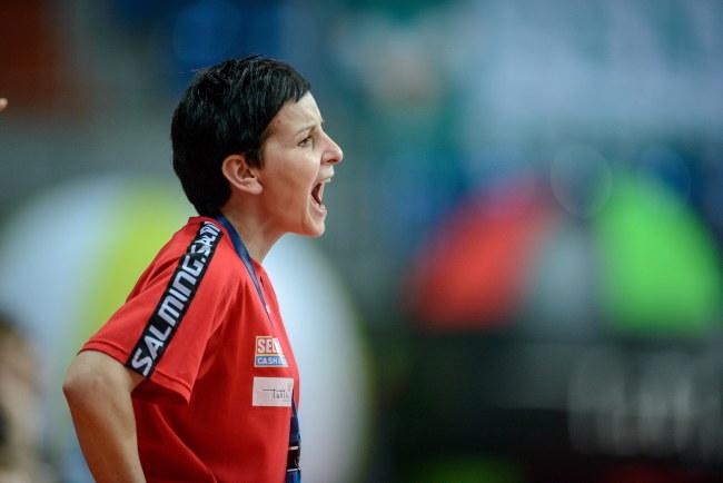 Sabina Włodek, trenerka MKS-u Selgros /Wojciech Pacewicz /PAP
