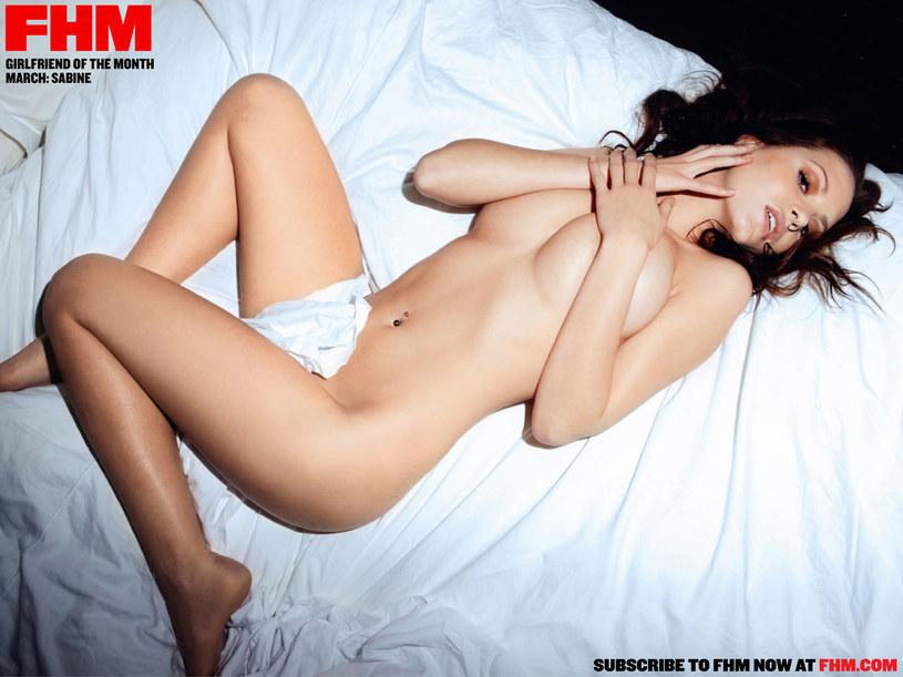 Sabine na rozkładówce brytyjskiego magazynu FHM /FHM Magazine /materiały prasowe