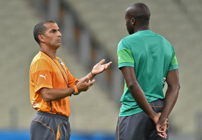 Sabri Lamouchi (z lewej) i Souleymane Bamba /AFP