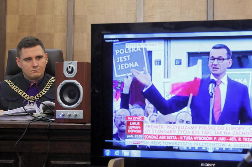 Sąd rozpoznaje wniosek w trybie wyborczym, który politycy PO złożyli przeciwko premierowi Mateuszowi Morawieckiemu /Paweł Supernak /PAP