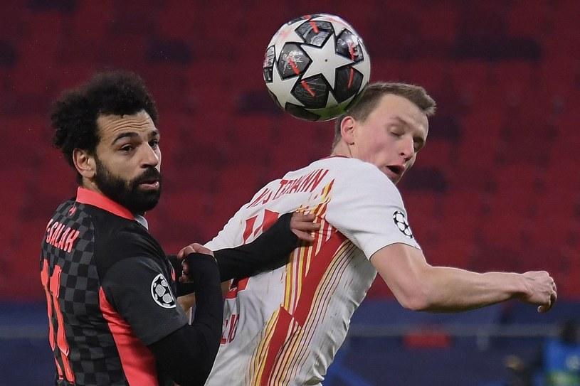 Sadio Mane i Lukas Klostermann w pierwszym meczu /AFP
