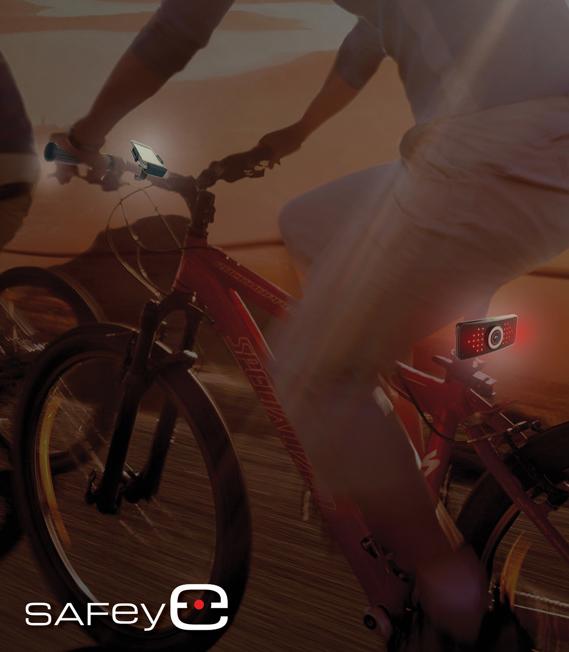 Safeye kontroluje, co dzieje się za plecami rowerzysty. /materiały prasowe