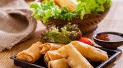 Sajgonki z piekarnika z mięsem na ostro