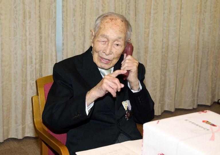 Sakari Momoi zmarł w wieku 112 lat /JAPAN POOL / JIJI PRESS / AFP /AFP