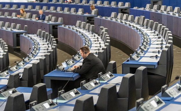 Sala obrad Parlamentu Europejskiego /Patrick Seeger  /PAP/EPA