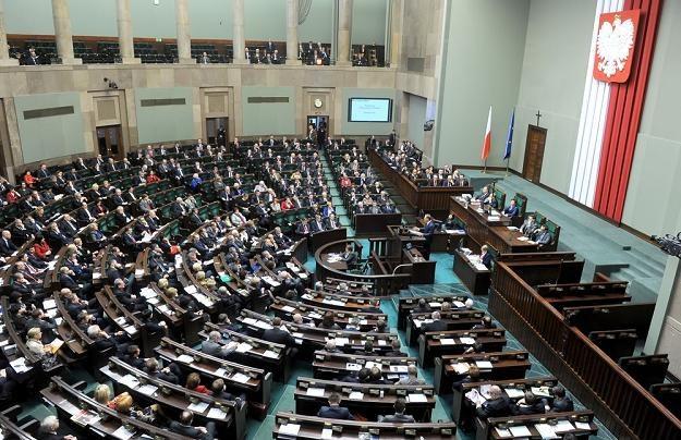 Sala obrad Sejmu. Fot. JAN BIELECKI /Agencja SE/East News