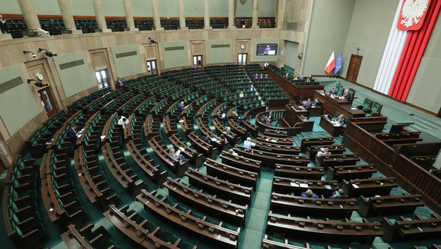 Sala obrad Sejmu /Paweł Supernak /PAP