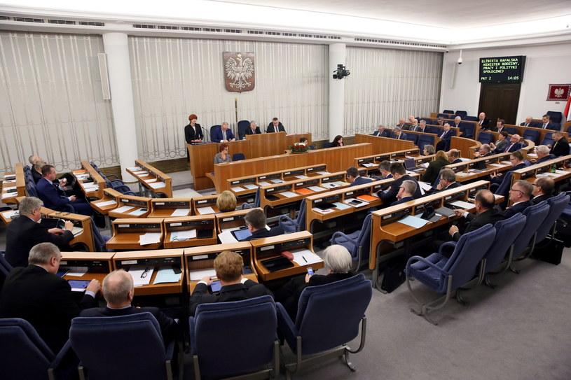 Sala obrad Senatu /Tomasz Gzell /PAP