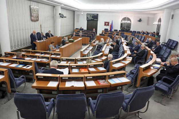 Sala obrad Senatu / PAP/Tomasz Gzell  /PAP