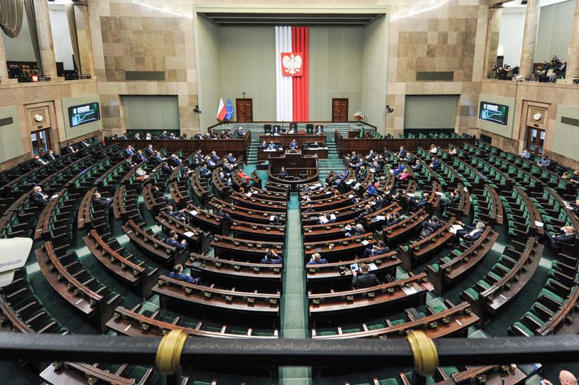 Sala obrad w Sejmie /Grzegorz Krzyzewski/ /Agencja FORUM