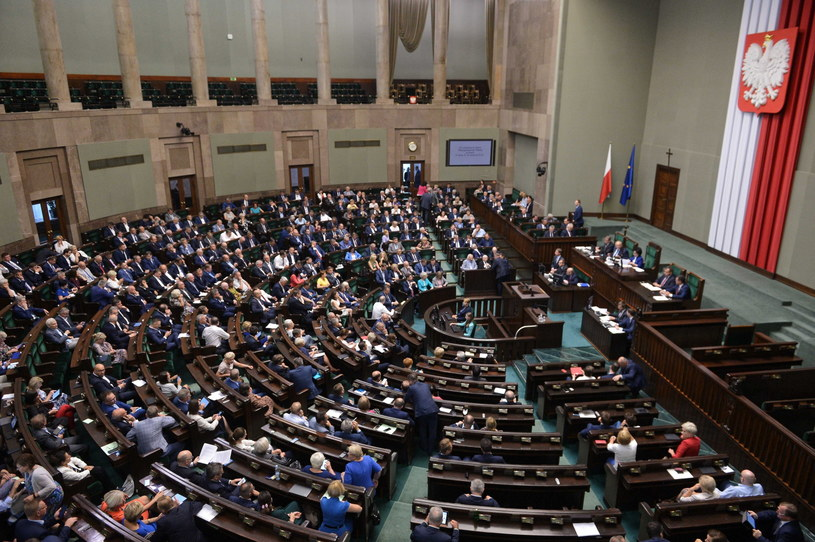 Sala plenarna Sejmu /Marcin Obara /PAP