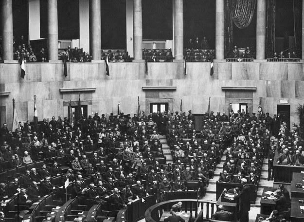 Sala Posiedzeń Sejmu w latach 20. zeszłego stulecia /Z archiwum Narodowego Archiwum Cyfrowego
