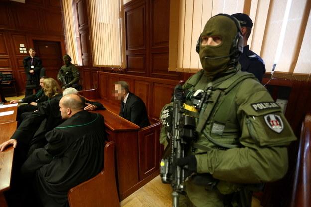 Sala sądowa podczas procesu /Tomasz Gzell /PAP