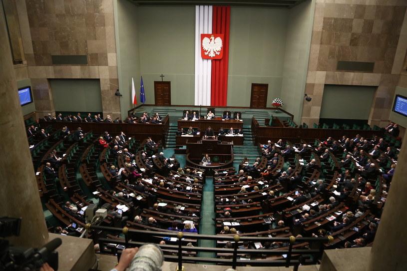 Sala sejmowa /Tomasz Gzell /PAP