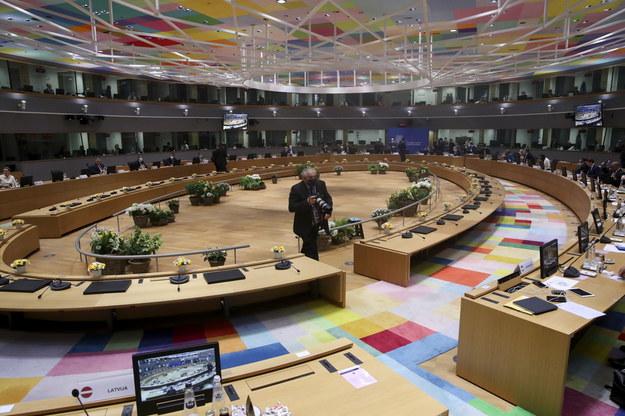 Sala, w której obradowali uczestnicy szczytu /YVES HERMAN / POOL /PAP/EPA