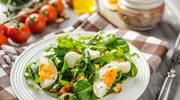 Sałatka z jajkami i roszponką