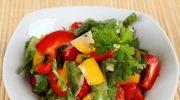Sałatka z kolorową papryką