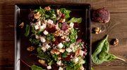 Sałatka z kolorowym ryżem, burakami i serem feta