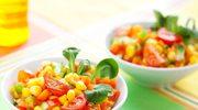 Sałatka z papryki i kukurydzy