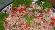 Salatka  z szynka na obiad