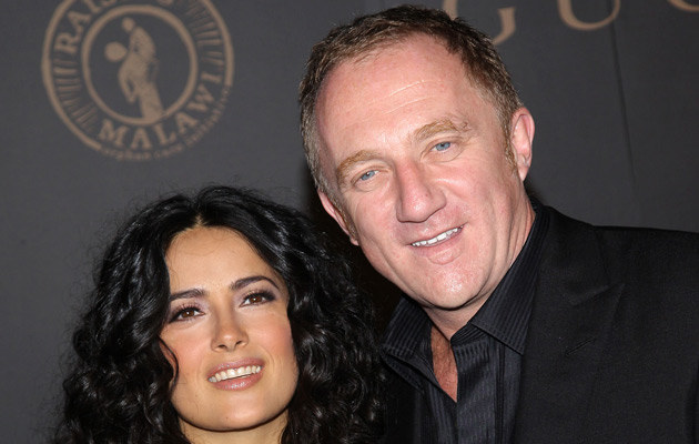 Salma Hayek i Francois Henri Pinault, fot. Stephen Lovekin   /Getty Images/Flash Press Media