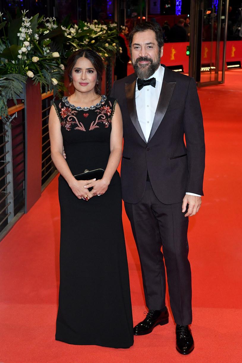 Salma Hayek i Javier Bardem na festiwalu Berlinale (2020) /Stephane Cardinale /Getty Images
