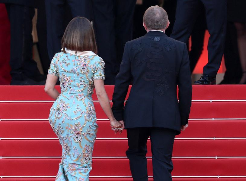 Salma Hayek z mężem w Cannes /Neilson Bernand /Getty Images