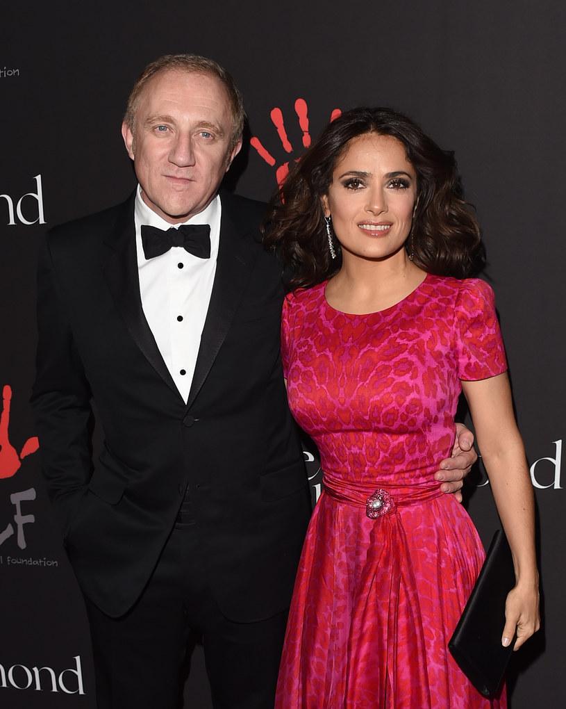 Salma Hayek z mężem /Jason Merritt /Getty Images